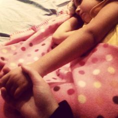 When she fells asleep while holding my hand and my heart melts.