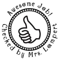 Awesome Job Teacher Stamp