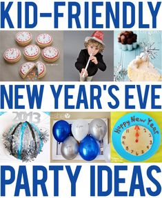 Kid-friendly New Year's Eve party ideas Kid-friendly New Year's Eve party ideas - food, decor, games, DIY noisemakers, and crafts! New Years With Kids, Family New Years Eve, New Years Eve Games, New Years Eve Day, New Years Eve Food, New Years Activities, New Years Party, New Years Eve Party Ideas For Family, Snow Activities