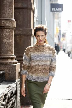 Ravelry: #14 Funnel-Neck Pullover pattern by Marie Wallin