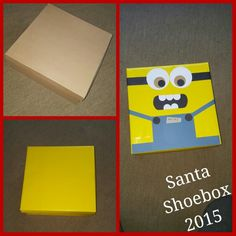 Decided to go with a Minion theme for this years Santa Shoebox 2015