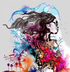 Gabriel Moreno is a Spanish illustrator (born in Baena, based in Madrid. He holds a Bachelor Degree in Fine Arts from the University of Seville, specialized in painting, design and etching. Gabriel, Graffiti, Photoshop, Creative Portraits, Art World, Collage Art, New Art, Illustrators, Fantasy Art