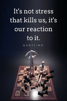 Quotes Don't mistake stress as something bad, it's actually an indicator, a helping hand, an informer, our reaction is what can be our enemy.