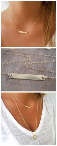 Bijoux Tendance : A beautiful delicate everyday gold bar necklace Earring Trends, Jewelry Trends, Gold Bar Necklace, Arrow Necklace, Ruby Red Slippers, Summer Jewelry, Everyday Fashion, Jewelery, Ladies Fashion