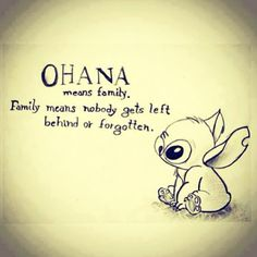 Disney lilo and stitch ohana