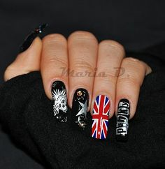punk rawk nails!! Hells yeah!