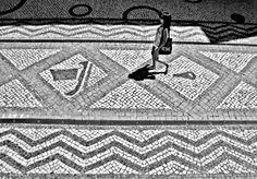 Portuguese sidewalk Lisbon, Portugal