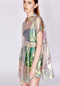 Sheer smock dress