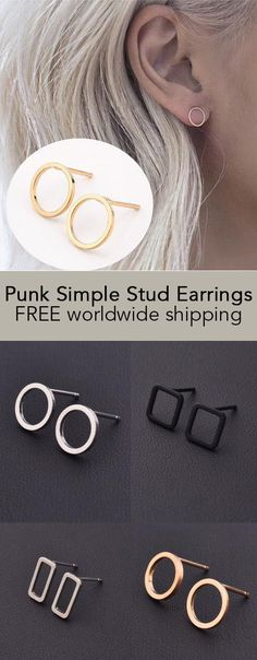 Punk Simple Stud Earrings