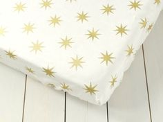 Gold bedding - Gender Neutral baby - Fitted Sheets - Cot bedding - Cot Bed Bedding - Baby bedding - Baby Shower Gift - cot bedding set