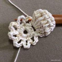 PAP flor japonesa - www.croche.com (13) Crochet Wool, Freeform Crochet, Crochet Round, Love Crochet, Crochet Gifts, Irish Crochet, Crochet Motif, Crochet Doilies, Crochet Stitches