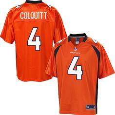 Men's Pro Line Denver Broncos Britton Colquitt Team Color Jersey