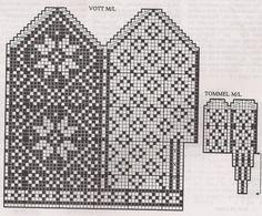 Deathflake Chart pattern by Art Fiend Knitting Charts, Knitting Stitches, Knitting Patterns Free, Knitting Yarn, Baby Knitting, Crochet Mittens Free Pattern, Knit Mittens, Mitten Gloves, Wrist Warmers
