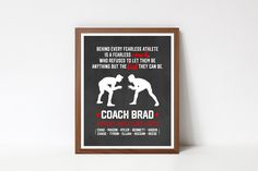 Coach Christmas Gifts, Coach Gifts, Coach Appreciation Gifts, Appreciation Quotes, Team Word, Choose Quotes, Wrestling Team, Custom Football, Back To School Sales