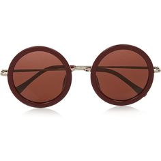 The Row Round-frame acetate sunglasses (5.932.070 IDR) ❤ liked on Polyvore featuring accessories, eyewear, sunglasses, glasses, occhiali, plum, round frame sunglasses, the row sunglasses, uv protection sunglasses and acetate sunglasses