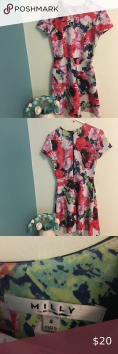 Milly fit and flare Floral Dress w/ pockets size 4 Questions? Leave a comment below! Milly Dresses Milly Green, Milly Dresses, Plus Fashion, Fashion Tips, Fashion Design, Fashion Trends, Fit And Flare, Trendy Outfits, Tassel Necklace