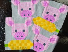Sew Fresh Quilts: Pretty Piggy and Corn Cob table runner