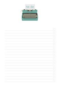 free printable notes checklist