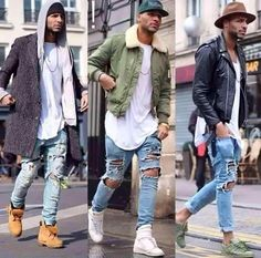 Stylish Men Urban Fashion Ideas Suitable For This Summer 19 Urban Street Style, Style Urban, Casual Street Style, Dope Fashion, Mens Fashion Suits, Urban Fashion, Fashion Ideas, Urban Apparel, Timberland Outfits