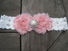 Vintage Pink Baby Headband, Newborn Headband, Baby Girl Headband, Infant Headband, Infant Bow, Toddler Headband. $9.50, via Etsy.