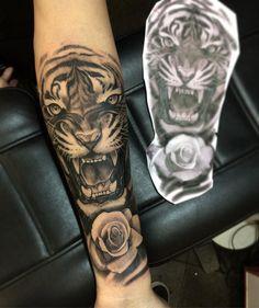 Dope Tattoos, Black Tattoos, Body Art Tattoos, Tattoos For Guys, Tattoos For Women, Leopard Tattoos, Animal Tattoos, Tiger Tattoo Sleeve, Sleeve Tattoos