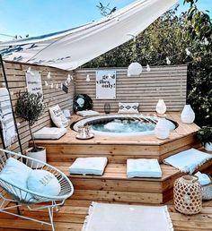 Backyard Patio Designs, Backyard Landscaping, Piscina Intex, Hot Tub Backyard, Stock Tank Pool, Jacuzzi Outdoor, Pool Designs, Outdoor Projects, Outdoor Decor