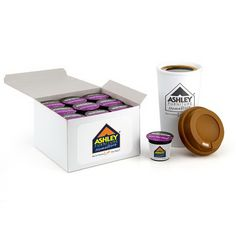 Brand new hot item! Coffee pods for use in Keurig(R) coffee brewers for both home and commercial use. 18 count coffee pods in a white gift box. Each pod is individually label and  also includes a label on the front of the box.