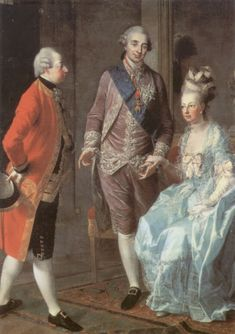 Archduke Maximilian with his sister Marie Antoinette and her husband Louis XVI in France,1776