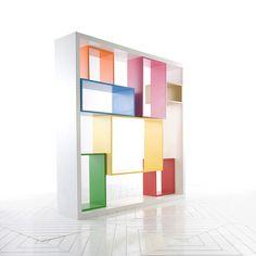 estanteria de colores  #shelves_design #Estanterías #shelves