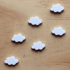 6 White Clouds, lasercut acrylic Acrylic Shapes, Cloud Shapes, White Clouds, Vintage Marketplace, Craft Items, Laser Cutting, Jewelry Crafts, Projects To Try, Baking Supplies