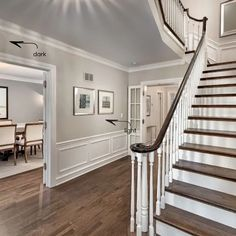 How to Choose a Greige Paint Colour + My Top 5 Faves! Hall Paint Colors, Entryway Paint Colors, Hallway Paint, Greige Paint Colors, Hallway Colours, Paint Colors For Living Room, Paint Colors For Home, Room Colors, Grey Paint Colours