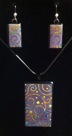 Etched, dichroic and mica. Very cool new process for fusing