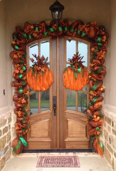 Fall deco mesh garland