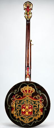 NMM 6072.  Tenor banjo (later converted to five-strings, but original nec