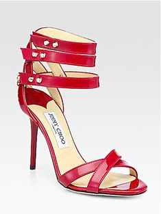 dfaa03518444 Dive Patent Leather Ankle-Strap Sandals - Zoom - Saks Fifth Avenue Mobile