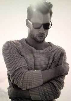 Keep it simple, corded sweater and fab sunnies, style for men.