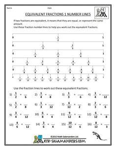 Equivalent fractions / proportions worksheet