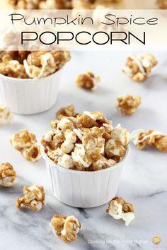 Pumpkin Spice Popcorn | White Lights on Wednesdy