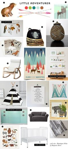 Z&L Nursery Inspiration - We love little adventurers and that feather mobile is perfect for this nursery style. The prints in 2 and 7 make us want to style a nursery right away. Nursery Themes, Nursery Room, Kids Bedroom, Nursery Decor, Themed Nursery, Nursery Ideas, Room Ideas, Baby Boy Rooms, Baby Boy Nurseries