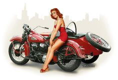 Pin up + HD + Sidecar = marry me