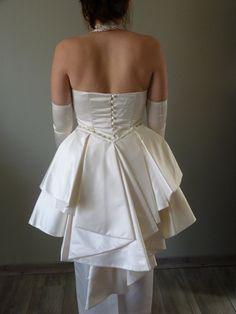 Robe de mariée satin et soie d'occasion - Gironde