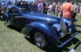 A three-quarter front view of a 1938 Talbot-Lago T150C