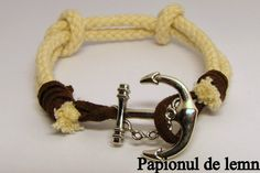 Handmade Bracelet Navy Double Knot 2 :: Papionul de lemn