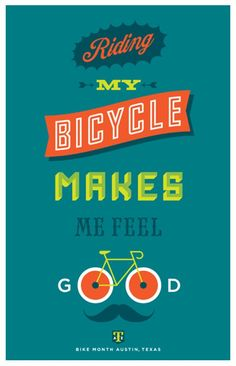 Riding my bicycle makes me feel good! #bike #transportation