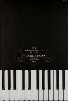 International Chopin Piano Competition 1970 Miedzynarodowy Konkurs Chopinowski 1970 Zelek Bronislaw Polish Poster