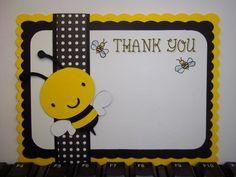 Bumble Bee Thank You Cards | Timberlysdesigns - Seasonal on ArtFire