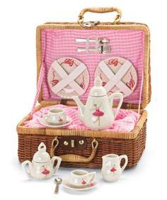 girls ballerina tea set