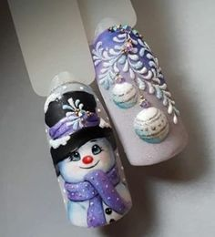 30 Amazing Nail Art Ideas Christmas nails are that necessary component of your good vacation look. that's why we have a tendency to are suggesting to your attention this recent Christmas nail art compilation! Nail Art Noel, Xmas Nail Art, Christmas Nail Art Designs, Holiday Nail Art, Xmas Nails, Winter Nail Designs, Winter Nail Art, Cute Nail Designs, Winter Nails