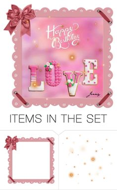 """sweet greeting"" by smile2528 ❤ liked on Polyvore featuring art"