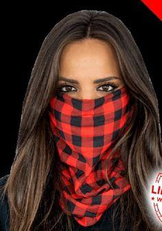 Red Plaid Multi Purpose Face Shield Balaclava Bandana Neck Gaiter Buff Sun Mask Neckerchief by VaderUnlimited on Etsy